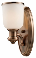 Landmark 66180-1 Brooksdale Antique Copper Finish 13 Inch Tall Lamp Sconce - Transitional