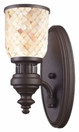 Landmark 66430-1 Chadwick Oiled Bronze Finish 13 Inch Tall Wall Light - Cappa Shell