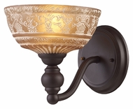 Landmark 66190-1 Norwich Antique Style Amber Glass 8 Inch Tall Lamp Sconce