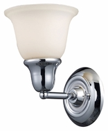 Landmark 67010-1 Berwick Transitional 8 Inch Tall Polished Chrome Lamp Sconce