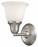 Landmark 67020-1 Berwick Brushed Nickel Finish 8 Inch Tall Wall Light Fixture