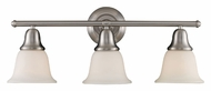 Landmark 67022-3 Berwick Brushed Nickel Transitional 3 Lamp Vanity Lighting For Bathroom