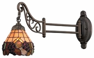 Landmark 079TB07 Vineyard Tiffany Swing Arm Lamp