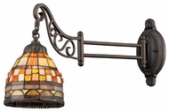 Landmark 079TB10 Mosaic Tiffany Swing Arm Lamp