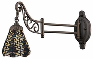Landmark 079TB20 Chevron Tiffany Swing Arm Lamp