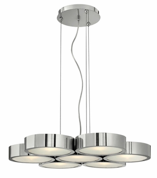 Fredrick Ramond 41434PAL Broadway Large Contemporary 7 Light Chandelier