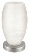 EGLO 88957A Batista I Transitional 8 Inch Tall Hand Made White Glass Table Light