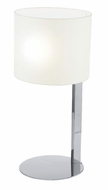 EGLO 90127A Chicco Chrome 21 Inch Tall Modern Table Lamp - White Shade