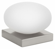 EGLO 89322A Etoo Contemporary White Glass 7 Inch Wide Table Light - Matte Nickel