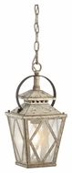 Kichler 43246DAW Hayman Bay 7 Inch Diameter Distressed Antique White Hanging Lantern Pendant