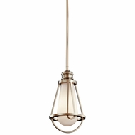 Kichler 42225PN Saddler Nauticaul Polished Nickel Mini Pendant Lamp
