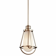 Kichler 42226PN Saddler Polished Nickel Small Nautical Pendant Hanging Light Fixture