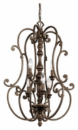 Kichler 43282TRZ Mithras 6 Candle Terrene Bronze Traditional Foyer Pendant Light