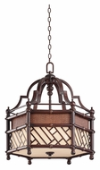 Kichler 43249CYZ Rum Cove Large 24 Inch Diameter Tropical Pendant Light - Cayman Bronze