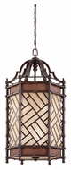 Kichler 43252CYZ Rum Cove Small 18 Inch Diameter Cayman Bronze Tropical Hanging Light