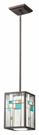 Kichler 65394 Caywood Mini Tiffany Olde Bronze Bar Lighting Fixture - 7 Inches Wide