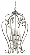 Kichler 43167NI Monroe Brushed Nickel 44 Inch Tall Large 8 Candle Entryway Light Fixture