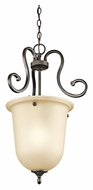 Kichler 43180OZ Feville Small 26 Inch Tall Olde Bronze Finish Foyer Lighting Fixture