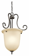Kichler 43181OZ Feville Large Olde Bronze Traditional 30 Inch Tall Foyer Lighting