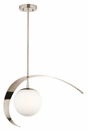 Kichler 42036PN Escala Modern Opal Glass 26 Inch Wide Hanging Light