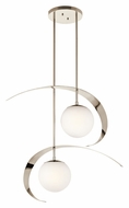Kichler 42037PN Escala Polished Nickel Finish Contemporary 2 Lamp Multi Pendant