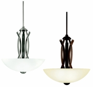Kichler 42161 Bellamy 18 Inch Diameter Modern Inverted Pendant - Pewter or Bronze