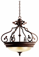 Kichler 2613TZG Larissa Large 30 Inch Diameter Bronze Bowl Classic Hanging Light