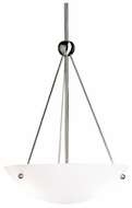 Kichler 2752NI Brushed Nickel 22 Inch Tall Inverted Pendant Lamp