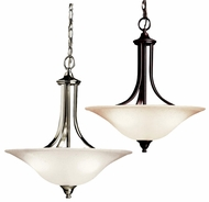 Kichler 10702 Dover 1 Light Fluorescent Pendant Light - Nickel Or Bronze