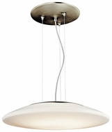 Kichler 10710NI Contemporary Fluorescent Brushed Nickel Saucer 20 Inch Diameter Pendant Light Fixture