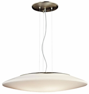 Kichler 10711NI 3 Light 30 Inch Diameter Nickel Saucer Modern Pendant Light - Fluorescent