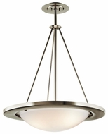 Kichler 10725NI Fluorescent Contemporary nickel 25 Inch Diameter Hanging Overhead Light Fixture