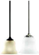 Kichler 10743 Wedgeport Chrome Rod Hung 1 Light Mini Pendant