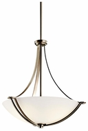 Kichler 42764AP Chatham 3-light Inverted Pendant Light Fixture in Antique Pewter
