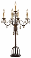 Feiss 10104PAL-DW Anora Traditional Candelabra Crystal Lamp