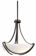 Kichler 42653OZ Owego 3-light Small Olde Bronze Pendant Hanging Light