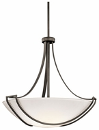 Kichler 42654OZ Owego 4-lamp Large Olde Bronze Drop Ceiling Lighting