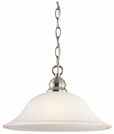 Kichler 42902NI Tanglewood 1-light Small Pendant Light Fixture in Brushed Nickel