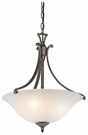 Kichler 43405OZ Wellington Square Olde Bronze Classic Ceiling Light Pendant