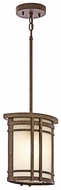 Kichler 49320AGZ Crosett Outdoor Craftsman Mini Pendant Lighting
