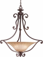 Kichler 3558CZ Cottage Grove Carre Bronze 3-Light Traditional Inverted Pendant
