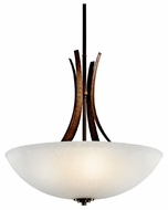 Kichler 42606OI Coburn Large Rustic Wrought Iron Pendant Lighting