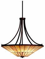 Kichler 65355 Morton Craftsman Art Glass Pendant Light Fixture