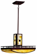 Kichler 65337 Riverview Art Glass Square Pendant Light