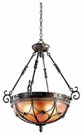 Kichler 42229TRZ Marchesa Small Bowl Pendant Light