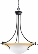 Kichler 3431DBK Pomeroy Distressed Black 3-Light Country Inverted Pendant