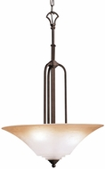 Kichler 3334-DBK Meredith Distressed Black 3-Light Colonial Inverted Pendant