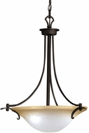Kichler 2644DBK Pomeroy Distressed Black 3-Light 11 inch Country Inverted Pendant