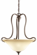 Kichler 3585OZ Wedgeport Olde Bronze 2-Light Inverted Pendant