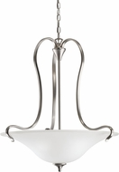 Kichler 3586NI Wedgeport Brushed Nickel 3-Light Inverted Pendant